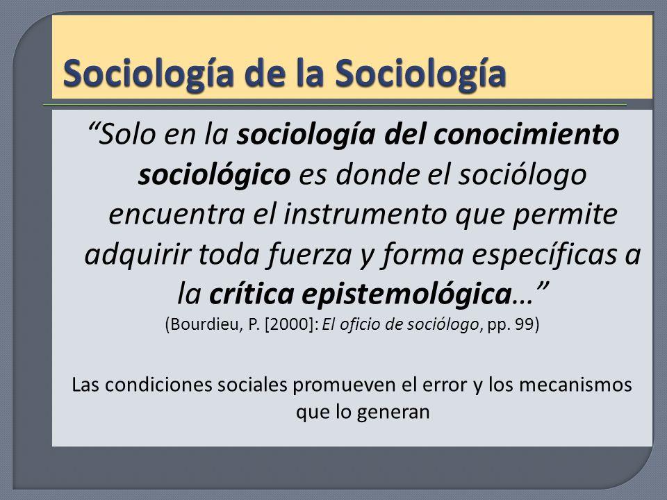 Sociología de la Sociología