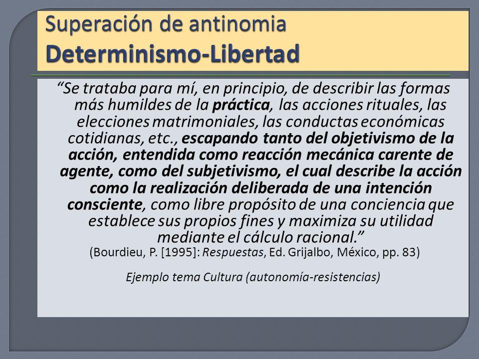 Superación de antinomia Determinismo-Libertad