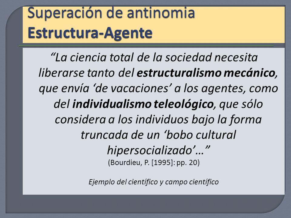 Superación de antinomia Estructura-Agente