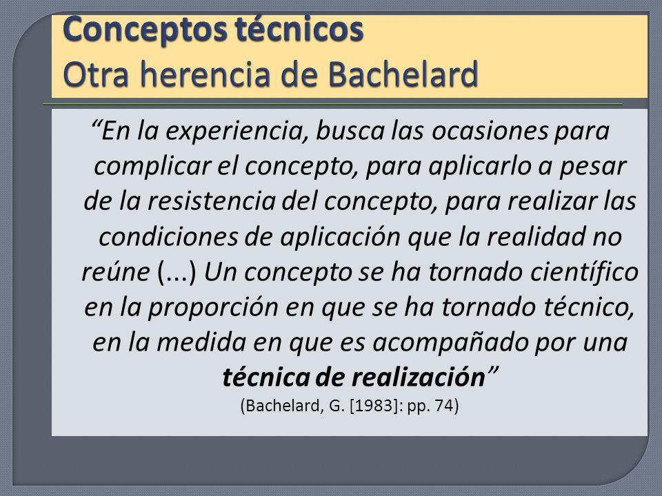 Conceptos técnicos Otra herencia de Bachelard
