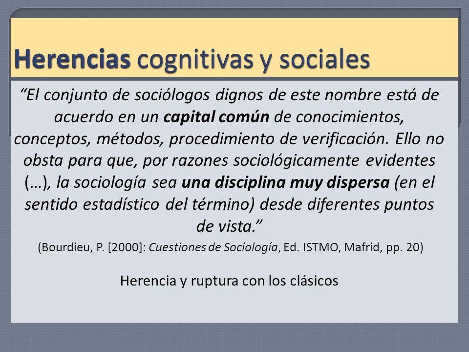 Herencias cognitivas y sociales