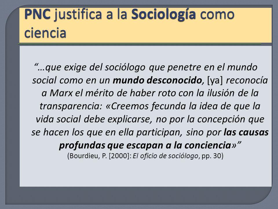 PNC justifica a la Sociología como ciencia