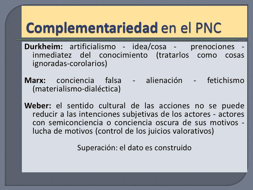 Complementariedad en el PNC