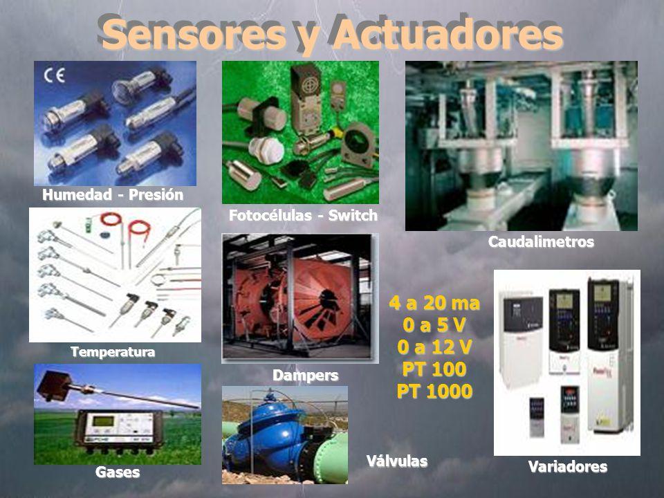 Sensores y Actuadores 4 a 20 ma 0 a 5 V 0 a 12 V PT 100 PT 1000