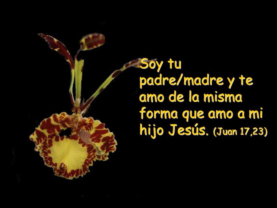 Soy tu padre/madre y te amo de la misma forma que amo a mi hijo Jesús