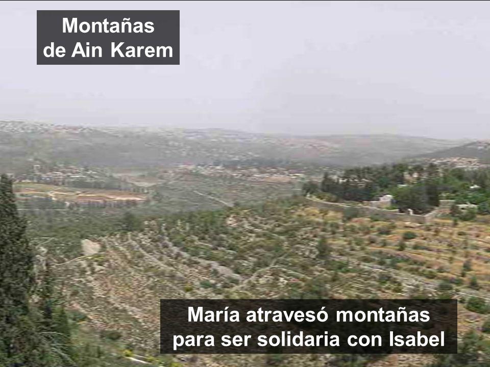 María atravesó montañas para ser solidaria con Isabel