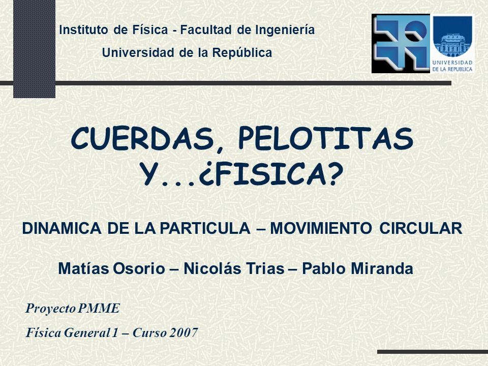 CUERDAS, PELOTITAS Y...¿FISICA