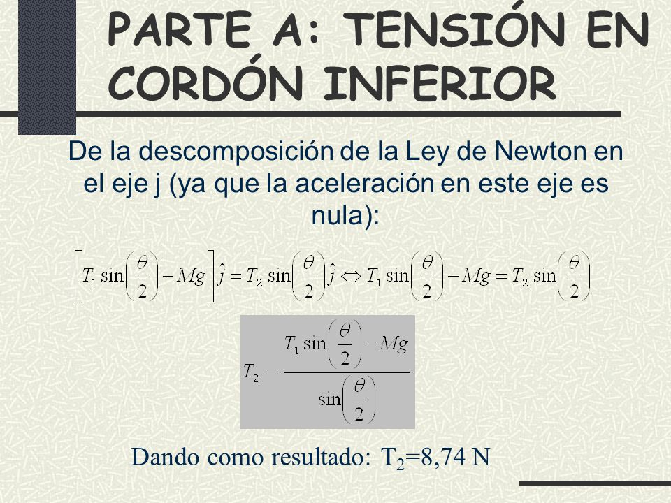 PARTE A: TENSIÓN EN CORDÓN INFERIOR