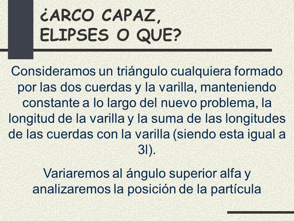 ¿ARCO CAPAZ, ELIPSES O QUE