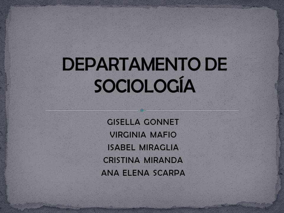 DEPARTAMENTO DE SOCIOLOGÍA