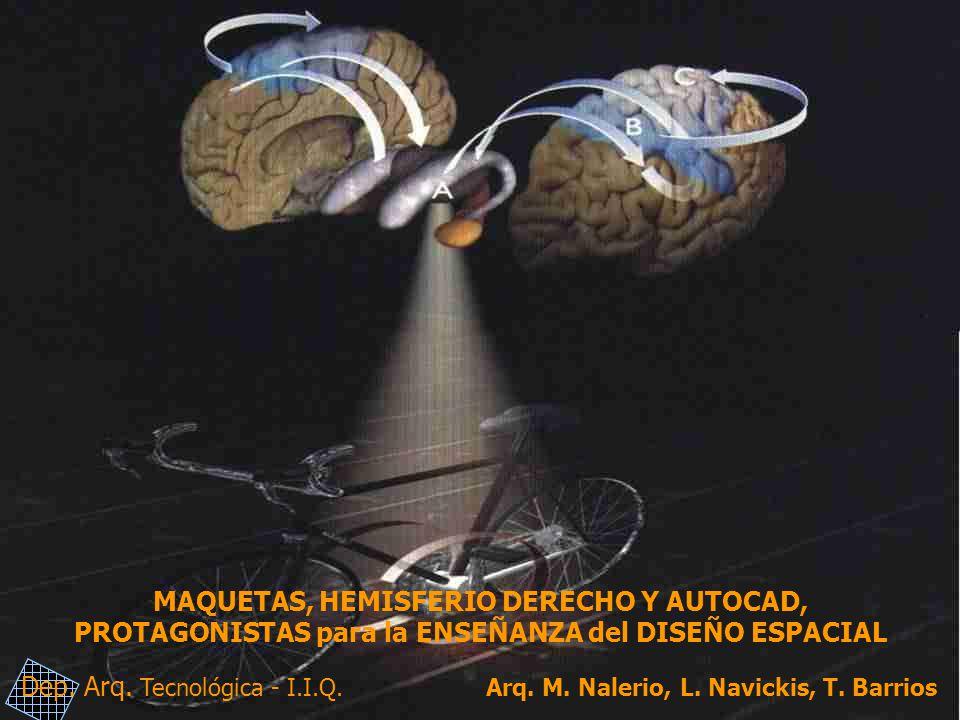 MAQUETAS, HEMISFERIO DERECHO Y AUTOCAD, PROTAGONISTAS para la ENSEÑANZA del DISEÑO ESPACIAL