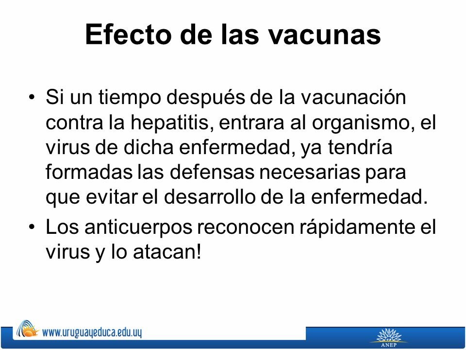 Efecto de las vacunas