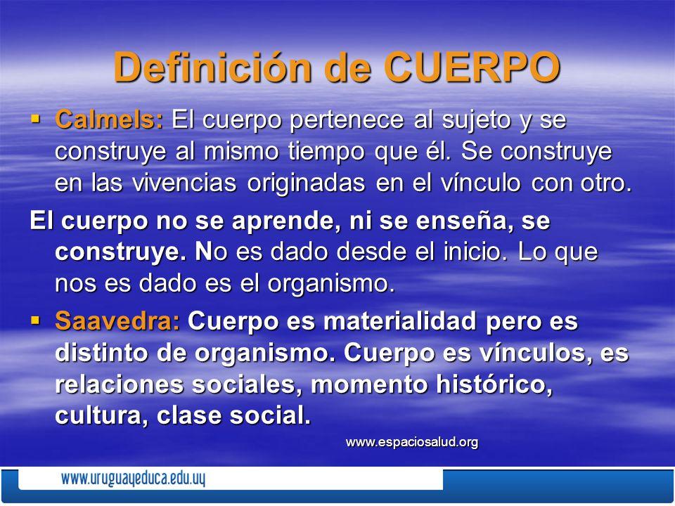 Definición de CUERPO