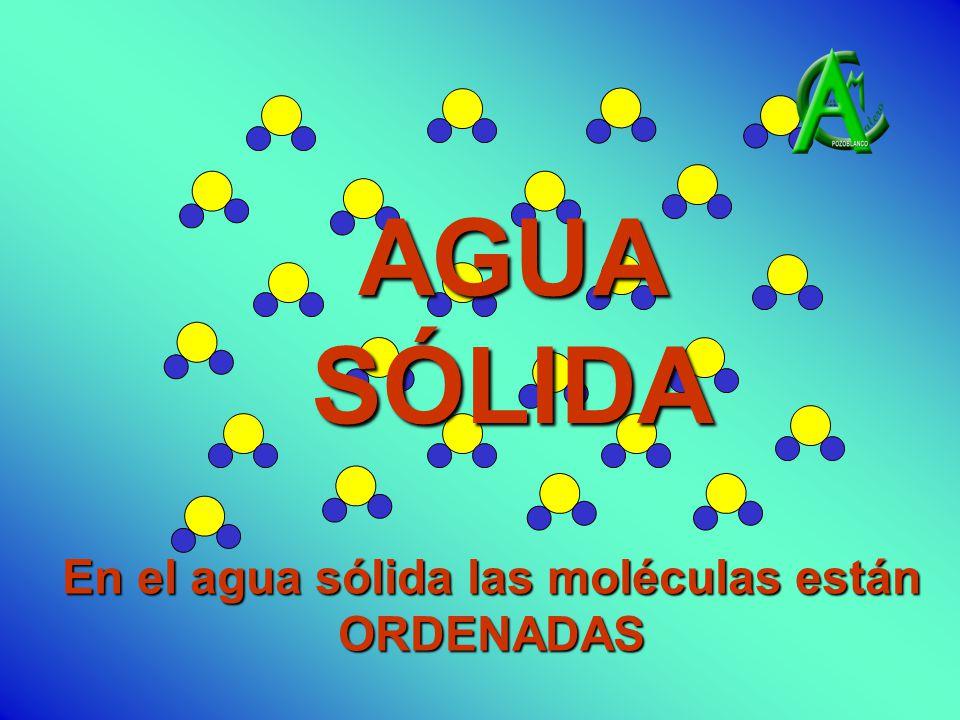 En el agua sólida las moléculas están ORDENADAS