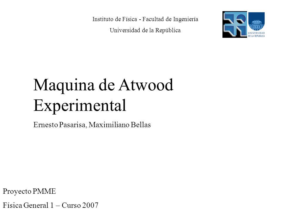 Maquina de Atwood Experimental