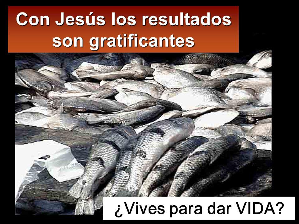 Con Jesús los resultados son gratificantes