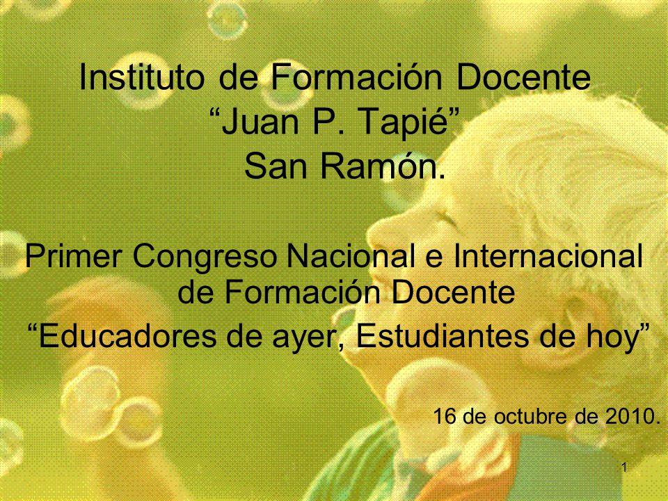 Instituto de Formación Docente Juan P. Tapié San Ramón.