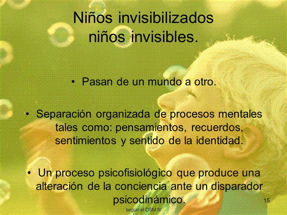 Niños invisibilizados niños invisibles.