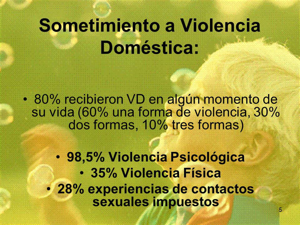 Sometimiento a Violencia Doméstica:
