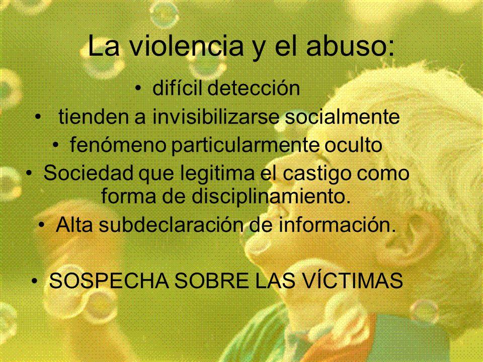 La violencia y el abuso: