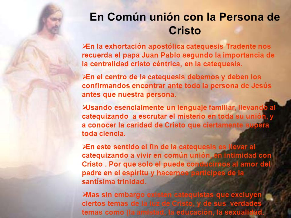 En Común unión con la Persona de Cristo