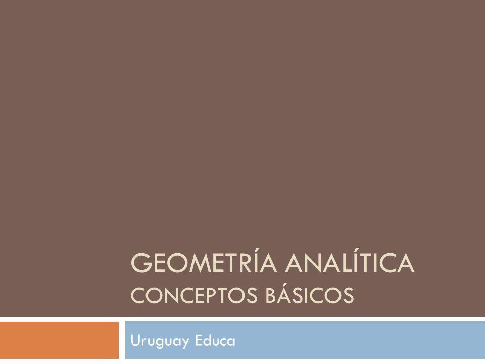 Geometría analítica conceptos básicos