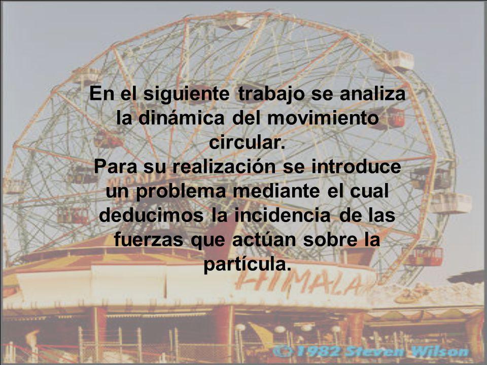 En el siguiente trabajo se analiza la dinámica del movimiento circular.