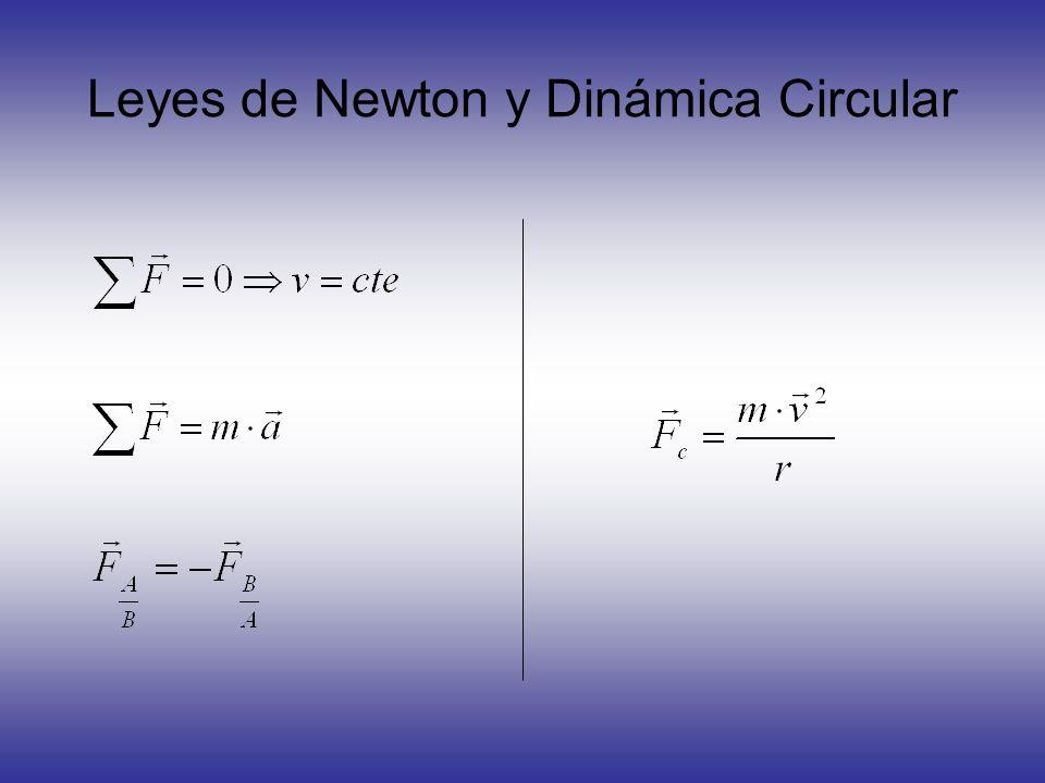 Leyes de Newton y Dinámica Circular