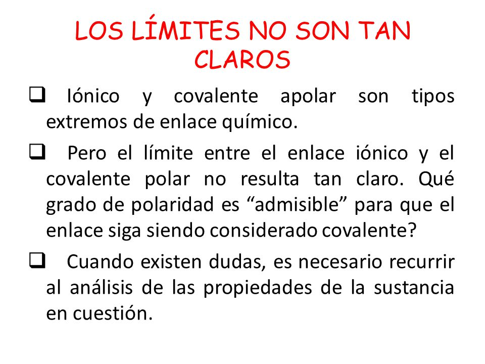LOS LÍMITES NO SON TAN CLAROS