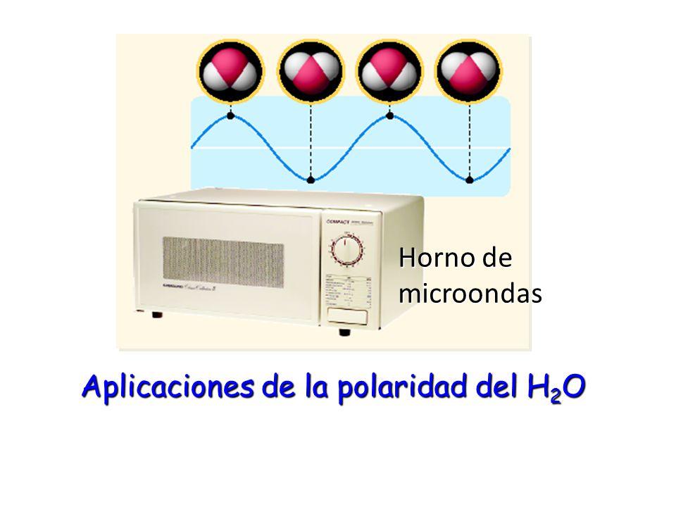 Aplicaciones de la polaridad del H2O