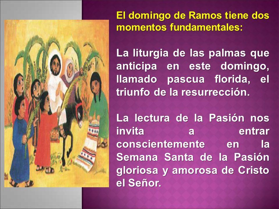El domingo de Ramos tiene dos momentos fundamentales:
