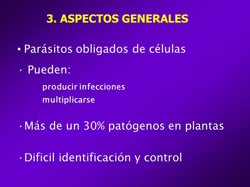 Parásitos obligados de células Pueden: producir infecciones