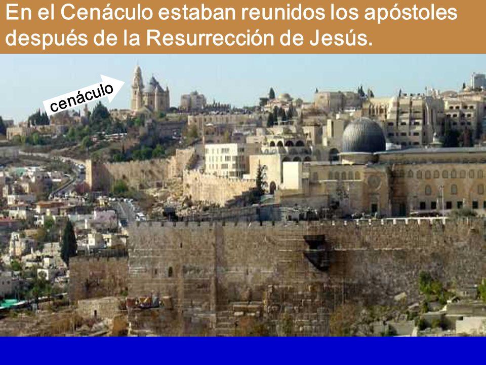 En el Cenáculo estaban reunidos los apóstoles después de la Resurrección de Jesús.