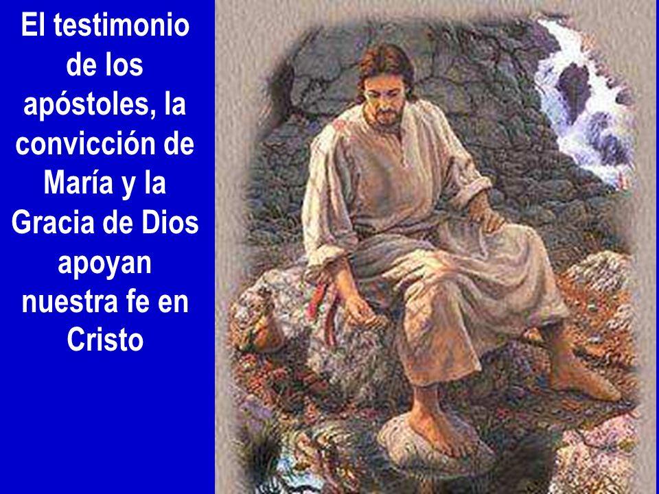 El testimonio de los apóstoles, la convicción de María y la Gracia de Dios apoyan nuestra fe en Cristo