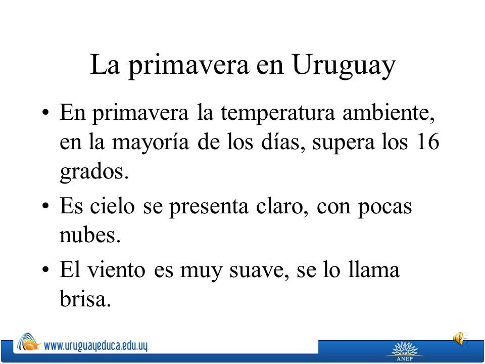 La primavera en Uruguay