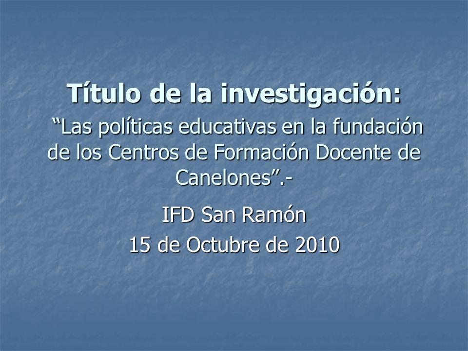 IFD San Ramón 15 de Octubre de 2010