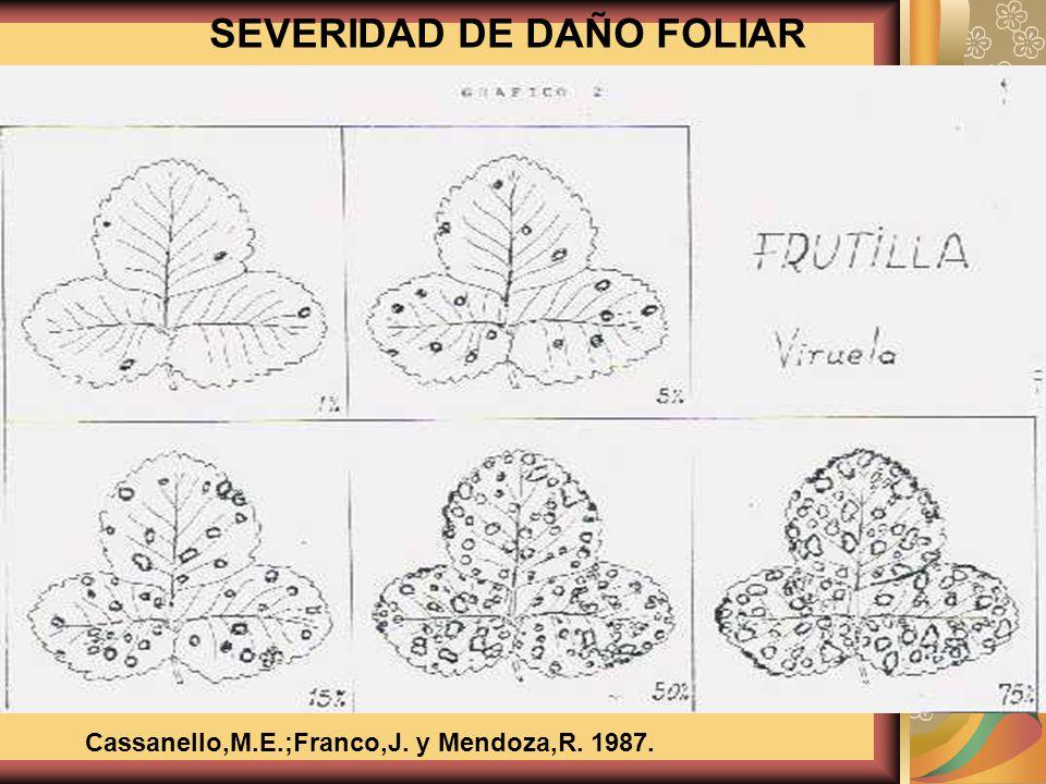 Cassanello,M.E.;Franco,J. y Mendoza,R. 1987.