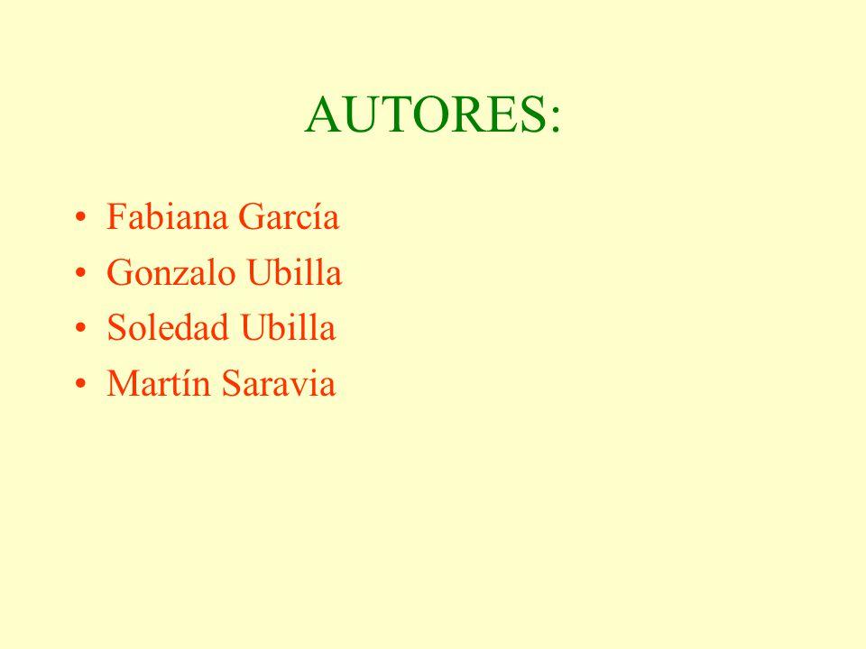 AUTORES: Fabiana García Gonzalo Ubilla Soledad Ubilla Martín Saravia