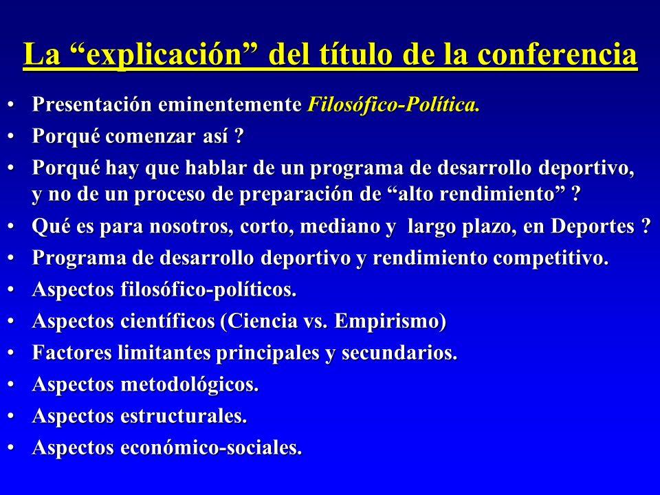 La explicación del título de la conferencia