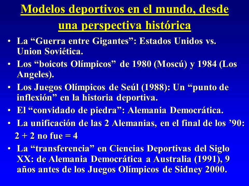 Modelos deportivos en el mundo, desde una perspectiva histórica
