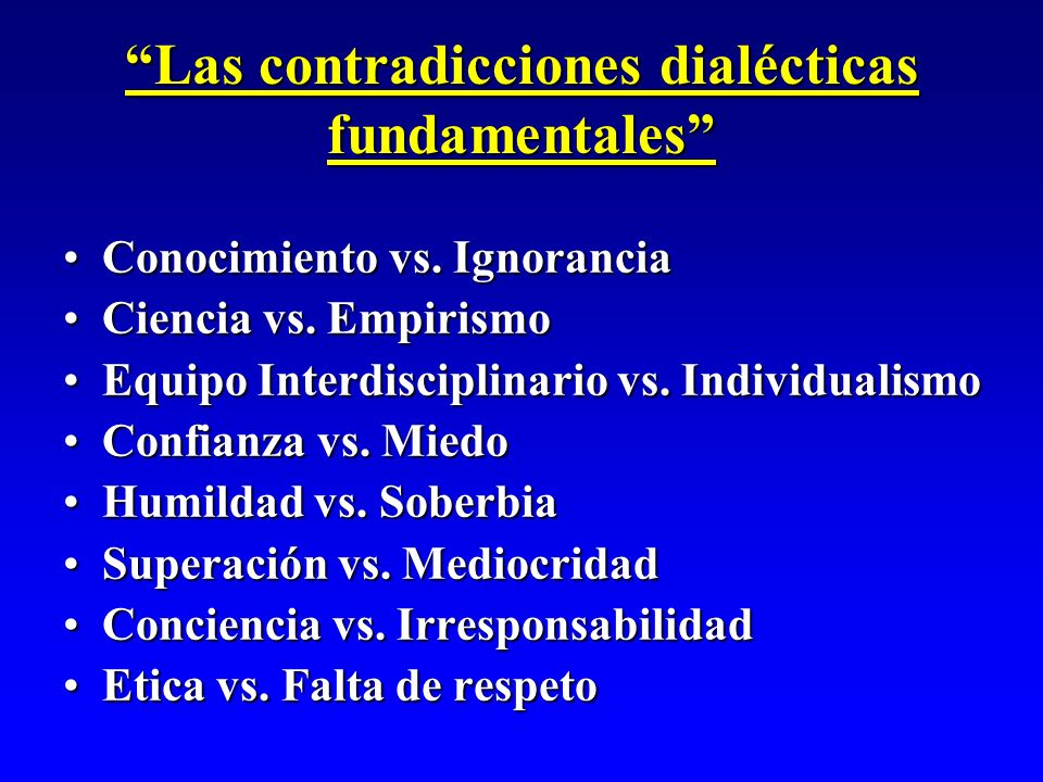 Las contradicciones dialécticas fundamentales