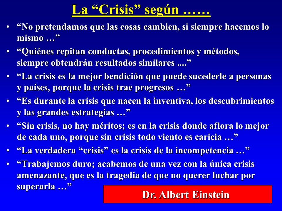 La Crisis según …… Dr. Albert Einstein