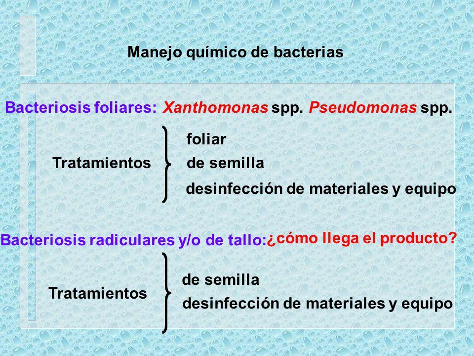 Manejo químico de bacterias