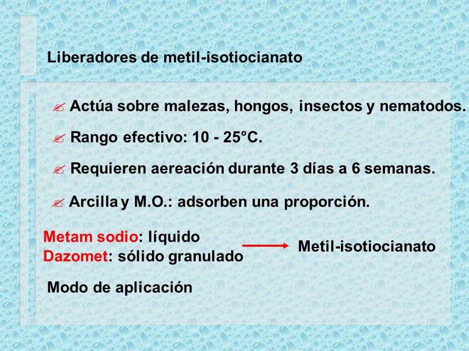 Liberadores de metil-isotiocianato