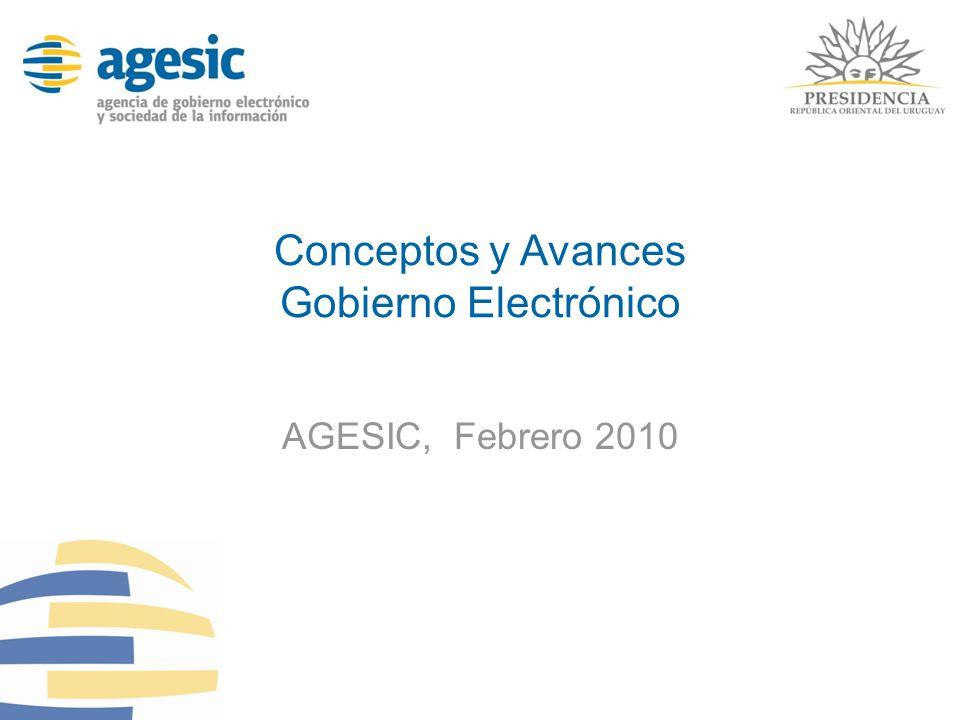 Conceptos y Avances Gobierno Electrónico