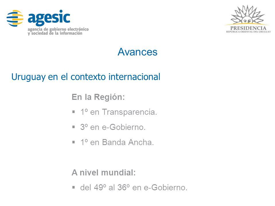 Avances Uruguay en el contexto internacional En la Región: