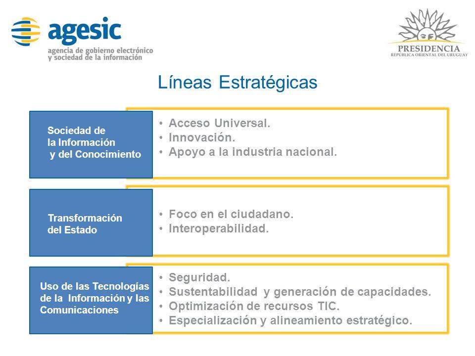 Líneas Estratégicas Acceso Universal. Innovación.