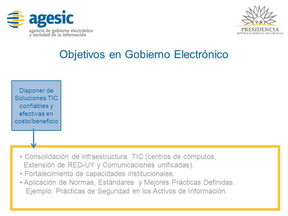 Objetivos en Gobierno Electrónico