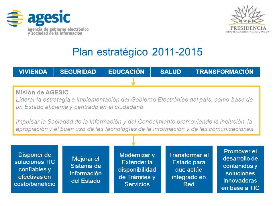 Plan estratégico 2011-2015 VIVIENDA SEGURIDAD EDUCACIÓN SALUD
