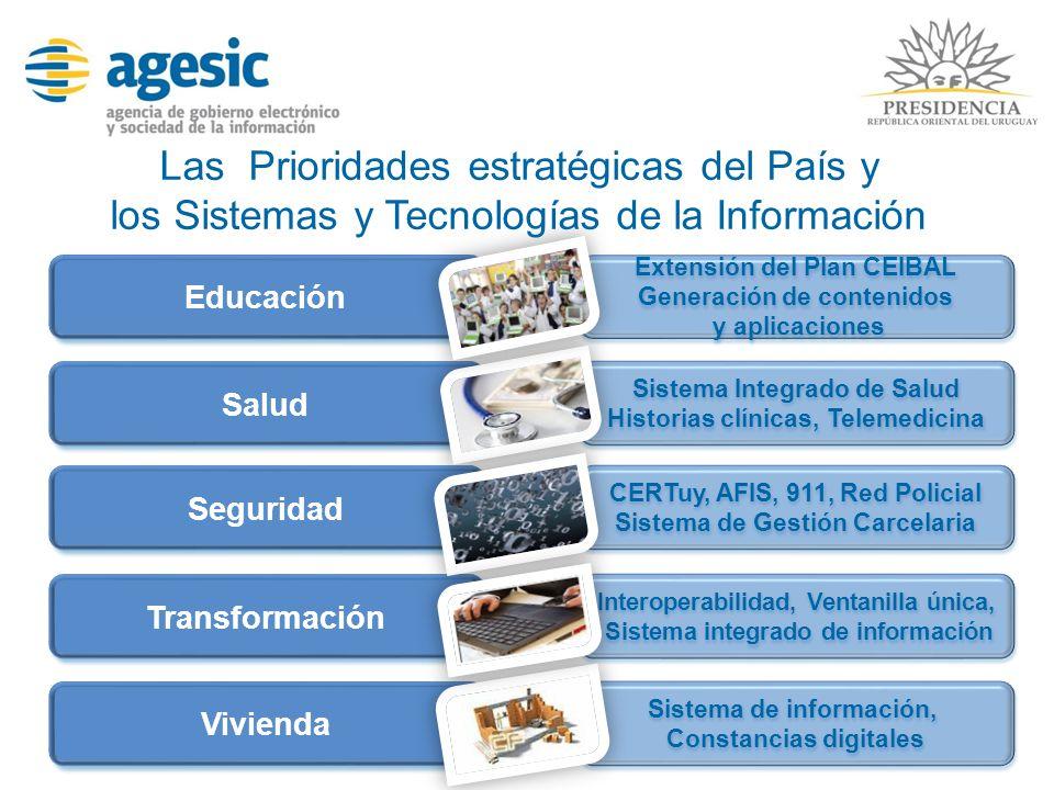 Las Prioridades estratégicas del País y los Sistemas y Tecnologías de la Información